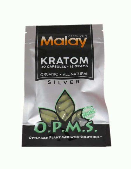OPMS Kratom Capsules (30ct) - Silver Maeng Da 30ct Capsules